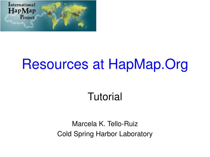resources at hapmap org n.