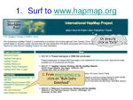 surf to www hapmap org