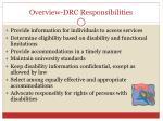 overview drc responsibilities
