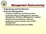 management restructuring