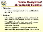 remote management of processing elements