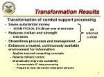transformation results