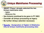 unisys mainframe processing