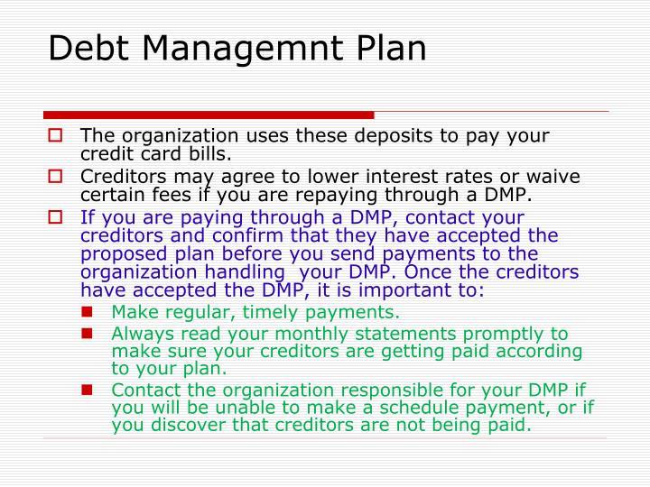 Debt Managemnt Plan