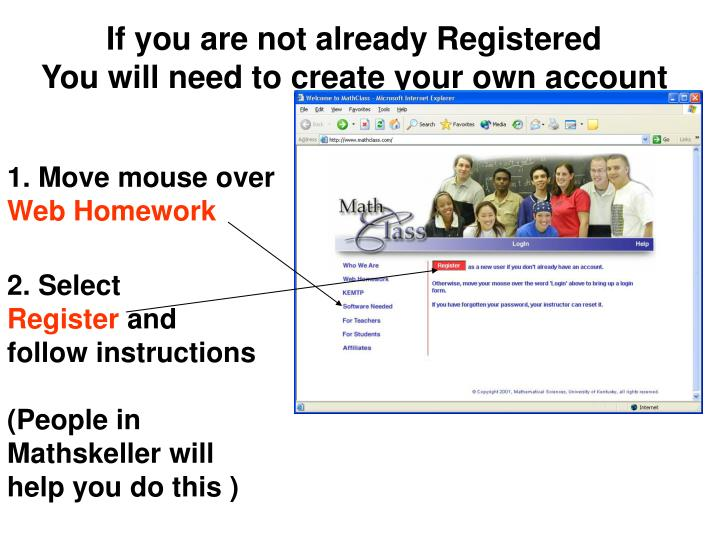 If you are not already Registered