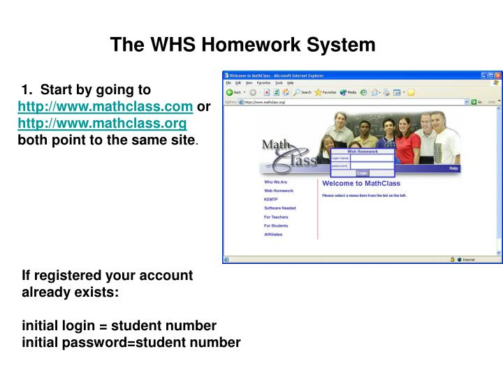 The WHS Homework System