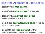 five step approach to job costing