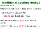 traditional costing method