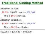 traditional costing method1