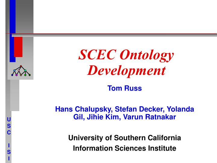 scec ontology development n.