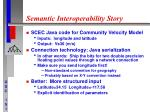 semantic interoperability story