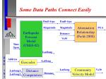 some data paths connect easily
