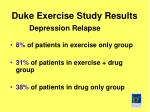 duke exercise study results
