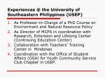 experiences @ the university of southeastern philippines usep