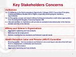 key stakeholders concerns