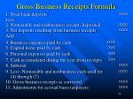 gross business receipts formula