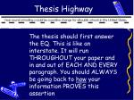 thesis highway