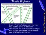 thesis highway1