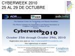 cyberweek 2010 25 al 29 de octubre
