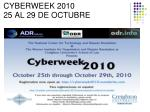 cyberweek 2010 25 al 29 de octubre1