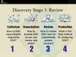 discovery stage 3 review
