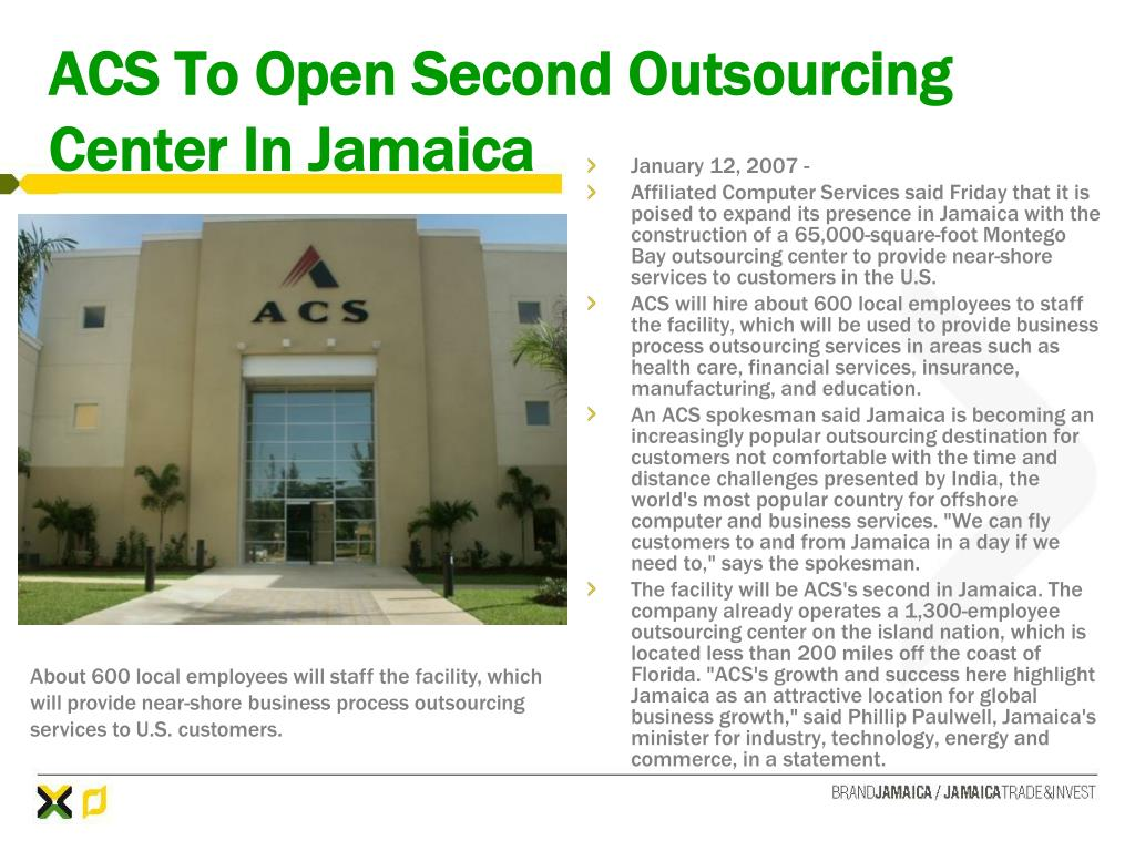 ACS To Open Second Outsourcing Center In Jamaica