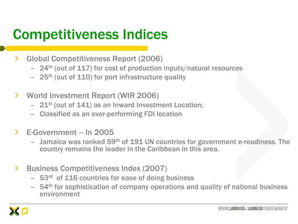 Competitiveness Indices
