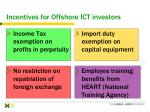 incentives for offshore ict investors63