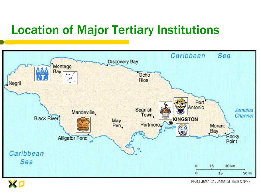 Location of Major Tertiary Institutions