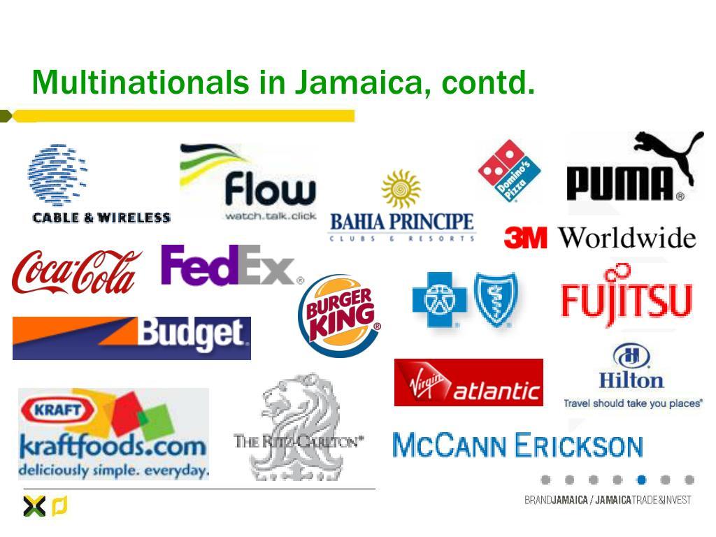 Multinationals in Jamaica, contd.