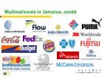 multinationals in jamaica contd