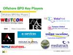offshore bpo key players
