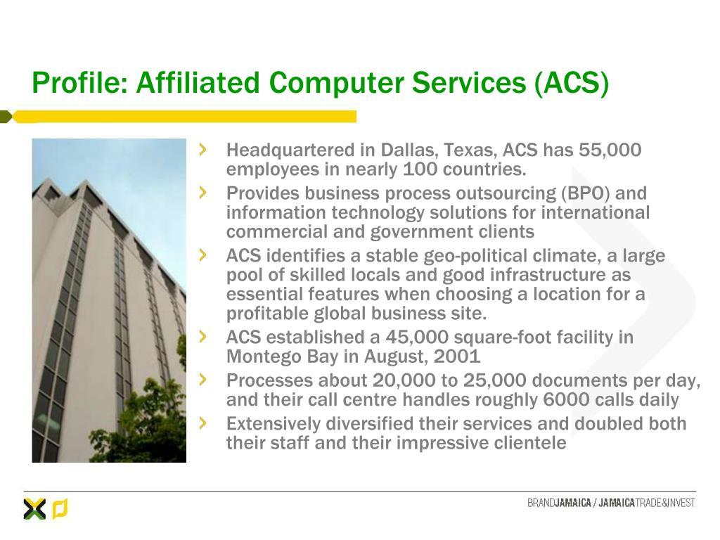 Profile: Affiliated Computer Services (ACS)