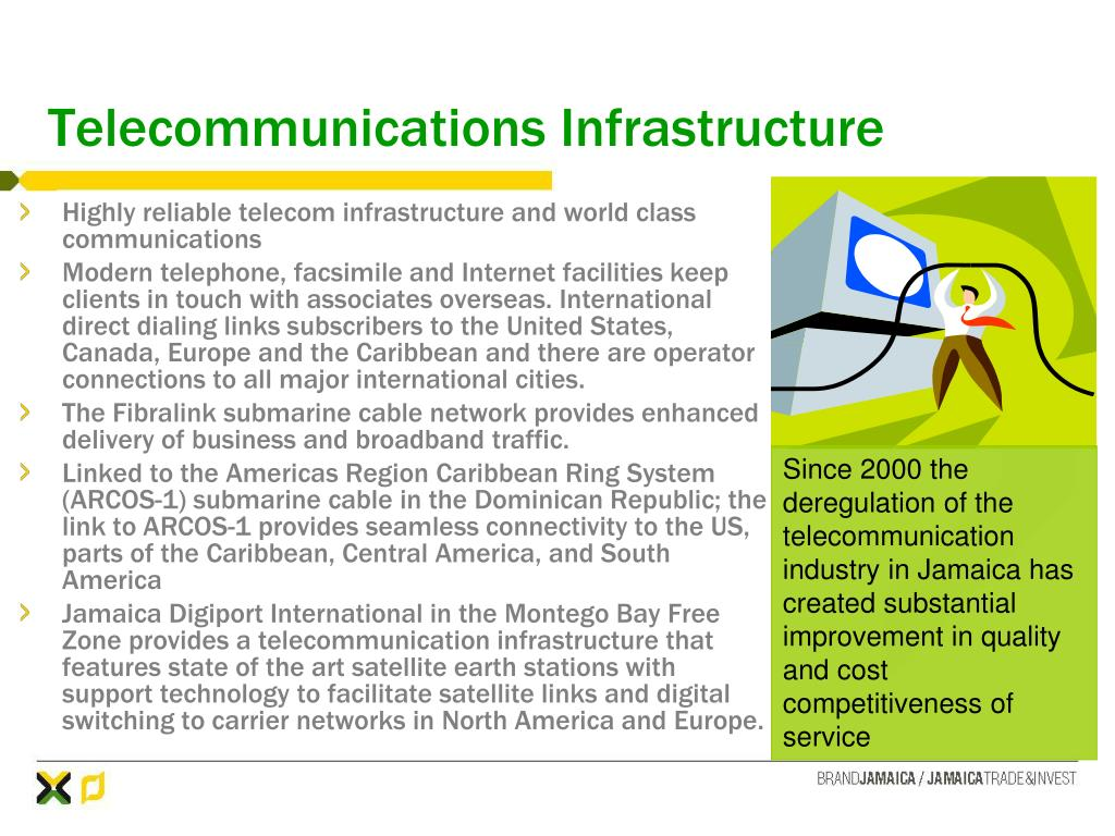 Since 2000 the deregulation of the telecommunication industry in Jamaica has created substantial improvement in quality and cost competitiveness of service