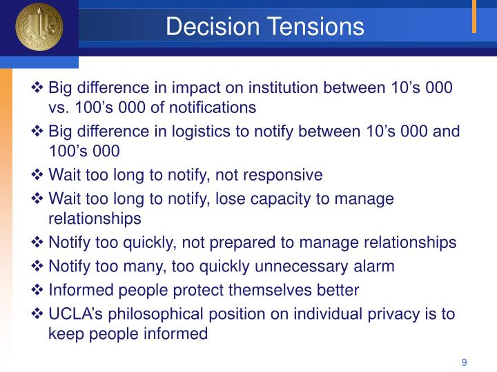 Decision Tensions