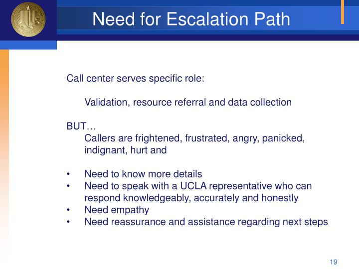 Need for Escalation Path
