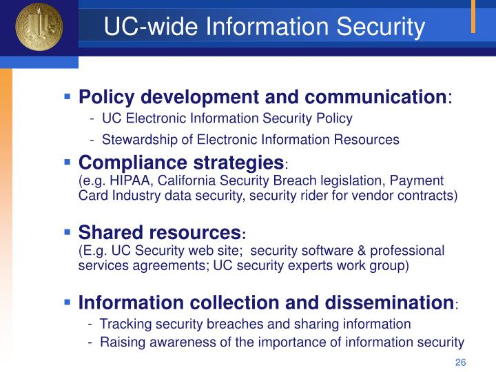 UC-wide Information Security