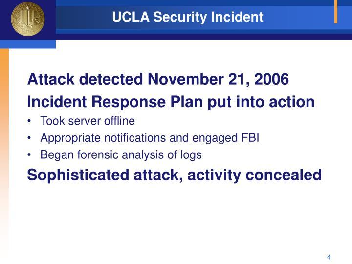 UCLA Security Incident