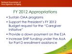fy 2012 appropriations