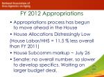 fy 2012 appropriations1