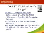 oaa fy 2012 president s budget
