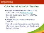 oaa reauthorization timeline