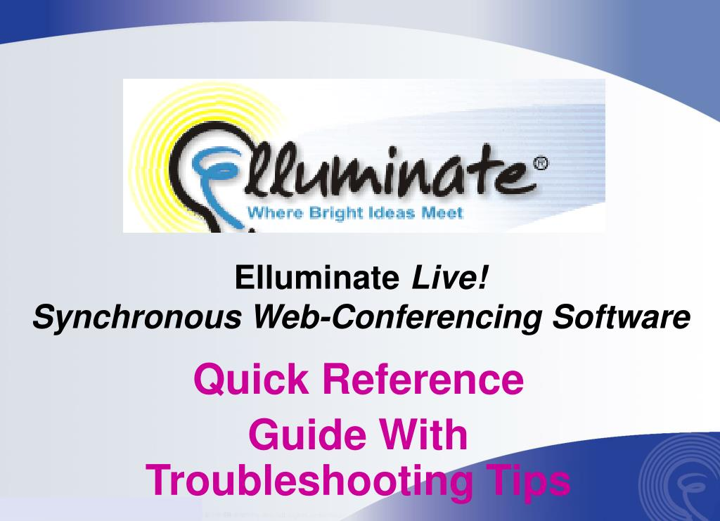 elluminate live synchronous web conferencing software l.