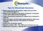 tips for elluminate sessions