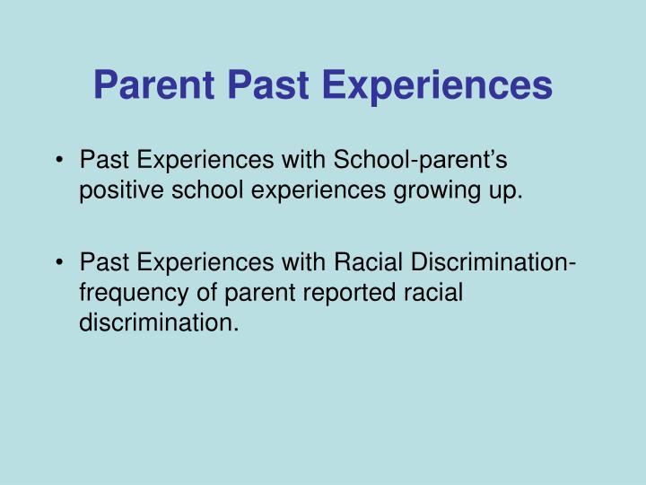 Parent Past Experiences