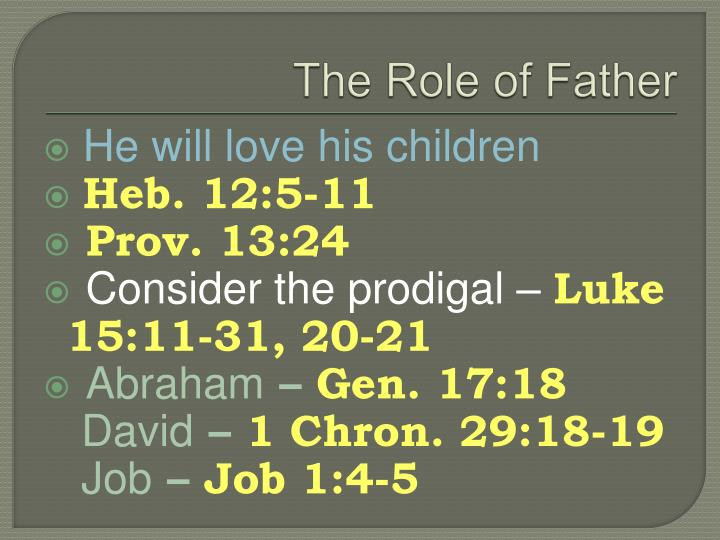 The Role of Father