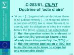 c 283 81 cilfit doctrine of acte claire