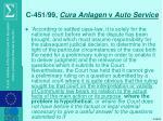 c 451 99 cura anlagen v auto service