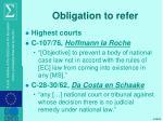 obligation to refer
