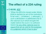 the effect of a 234 ruling